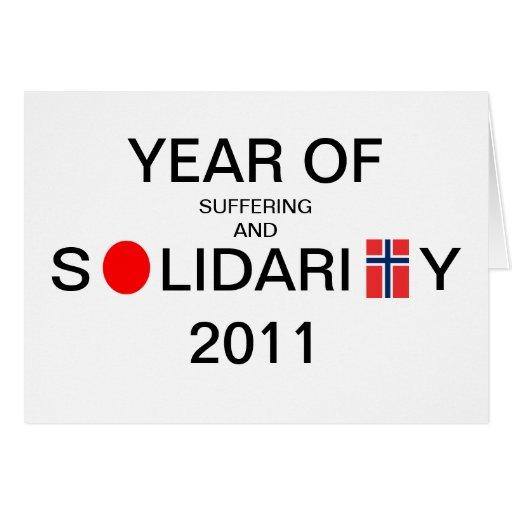 año de sufrimiento y de solidaridad Japón/Noruega  Tarjetón