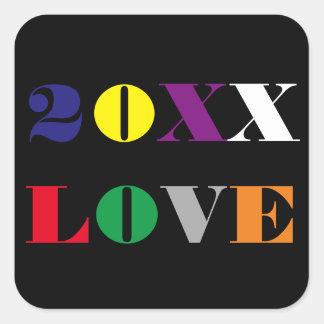 Año del amor - pegatina cuadrado