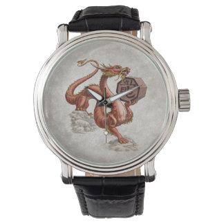 Año del arte chino del zodiaco del dragón relojes
