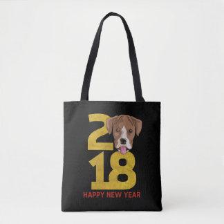 Año del boxeador del bolso del Año Nuevo del perro