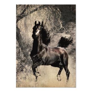 Año del caballo 2014 - arte de la pintura china invitación 11,4 x 15,8 cm