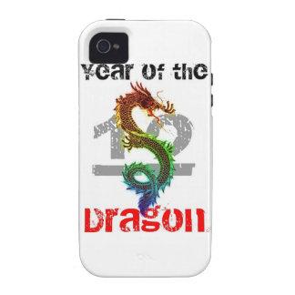 Año del caso 2012 del iPhone 4 del dragón Case-Mate iPhone 4 Funda