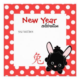 Año del conejo Cutie Anuncio Personalizado