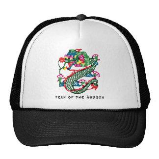 Año del corte del papel del regalo del dragón gorras