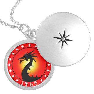 Año del dragón 1964 collar redondo