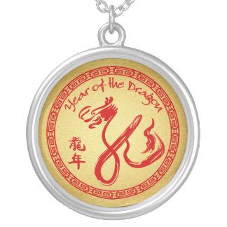 Año del dragón 2012 - rojo y oro joyería