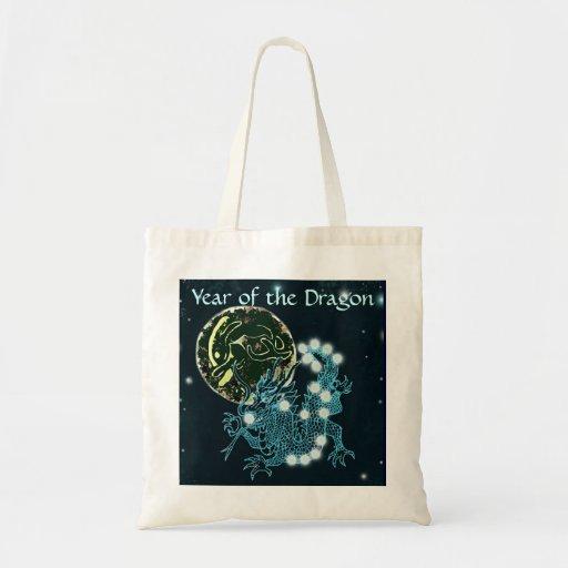 Año del dragón bolsa lienzo