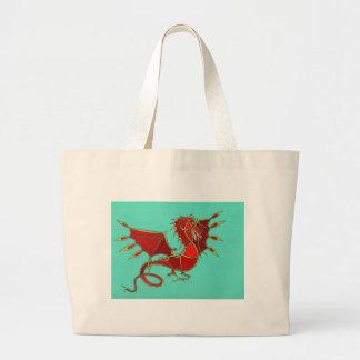 Año del dragón bolsa tela grande