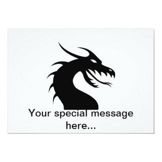 Año del dragón - cabeza del dragón invitaciones personalizada