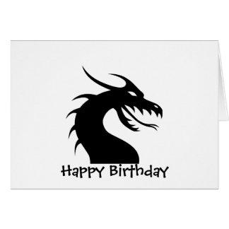 Año del dragón - cabeza del dragón felicitacion