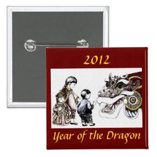 Año del dragón pins