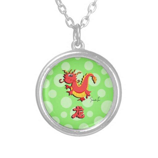 Año del dragón colgantes personalizados