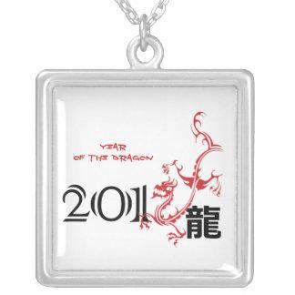 Año del dragón, collar chino 2012 del Año Nuevo