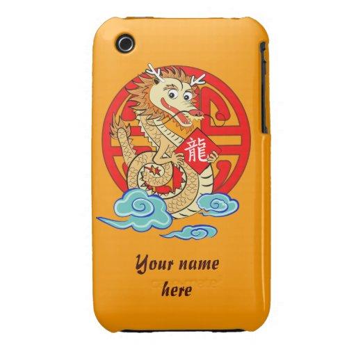 Año del dragón Case-Mate iPhone 3 carcasa
