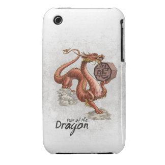 Año del dragón iPhone 3 Case-Mate coberturas