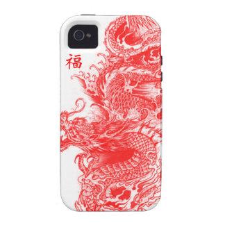 Año del dragón vibe iPhone 4 fundas