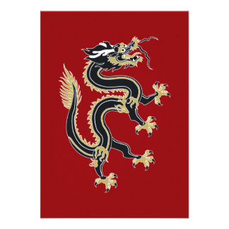 Año del dragón invitación