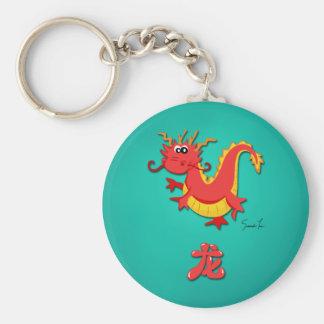 Año del dragón llavero personalizado
