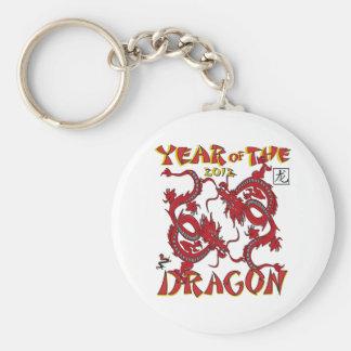 Año del dragón llavero redondo tipo chapa