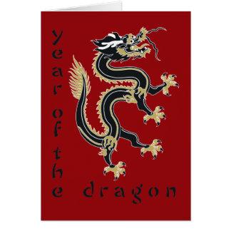 Año del dragón tarjetón