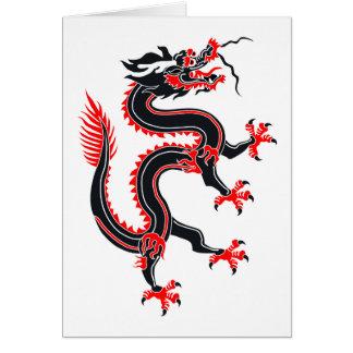 Año del dragón tarjeta