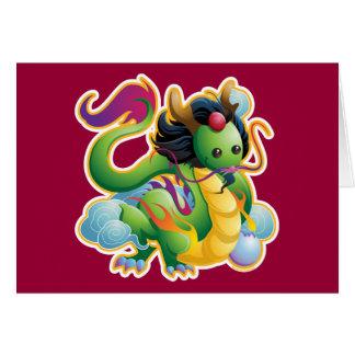 Año del dragón tarjeton