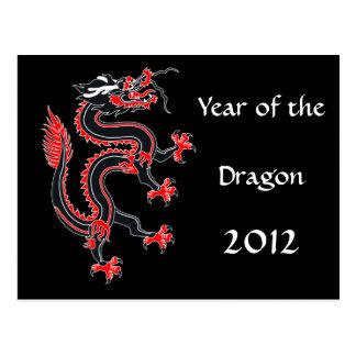 Año del dragón tarjeta postal