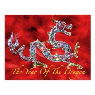 Año del dragón tarjetas postales