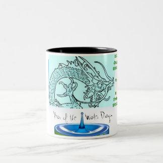 Año del dragón taza