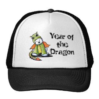 Año del dragón Westie Gorras
