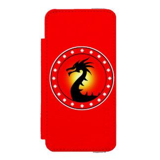 Año del dragón funda cartera para iPhone 5 watson