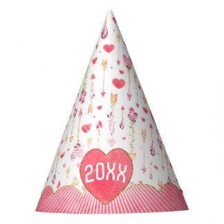 Año del el día de San Valentín de las flechas de Gorro De Fiesta