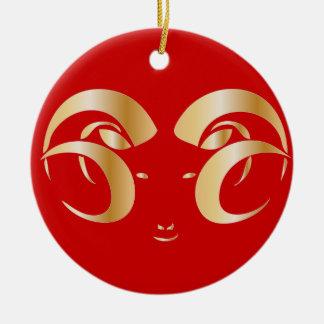 Año del espolón/de las ovejas ornamente de reyes