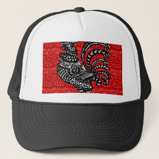 Año del gallo gorra de camionero