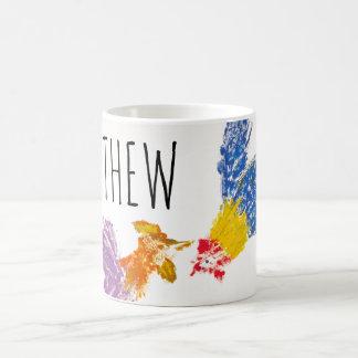 Año del gallo o taza personalizada cumpleaños