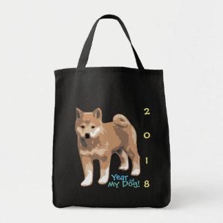 Año del inu de Shiba de mi bolso 2018 de