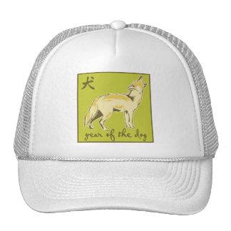 Año del perro gorras de camionero