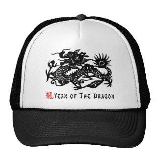 Año del regalo del corte del papel del dragón gorros
