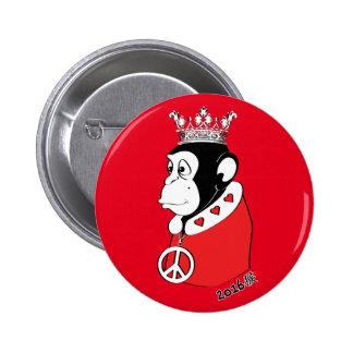 Año del rey pacífico y cariñoso 2016 del mono chapa redonda de 5 cm
