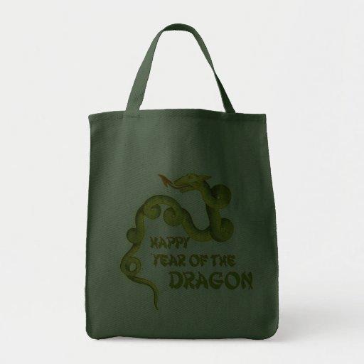 Año feliz de los regalos del dragón bolsa de mano