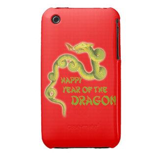 Año feliz de los regalos del dragón Case-Mate iPhone 3 funda
