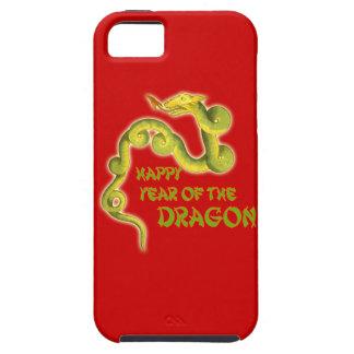 Año feliz de los regalos del dragón iPhone 5 coberturas