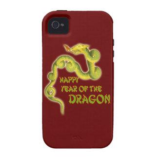 Año feliz de los regalos del dragón iPhone 4 funda