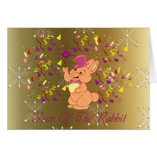 Año feliz del conejo tarjeta
