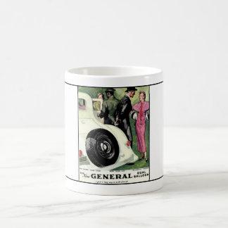 Año general 1933 ad.1 del neumático taza de café