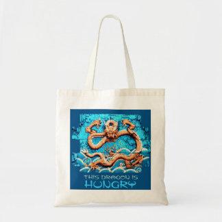 Año hambriento del bolso del comprador del dragón bolsa tela barata