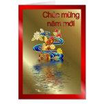 Año lunar vietnamita del Año Nuevo del Moi de Chuc Tarjeta De Felicitación