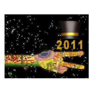 Año Nuevo 2011 del fiesta de la paz Postal