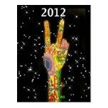 Año Nuevo 2012 del fiesta de la paz Postal