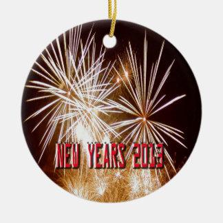 Año Nuevo 2013 Adorno Navideño Redondo De Cerámica